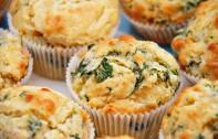kaas en spinasie muffins